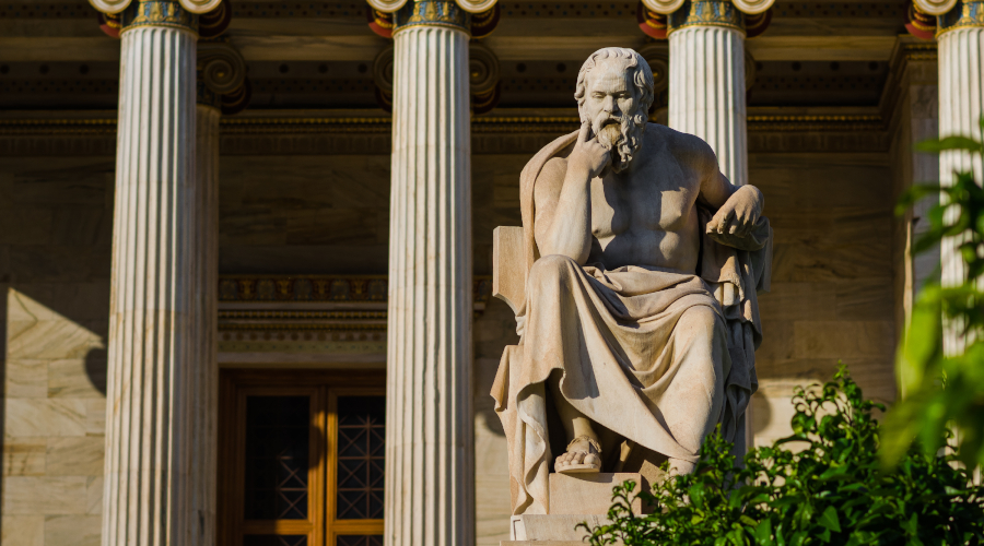 Statue of philosopher Socrates in Athens