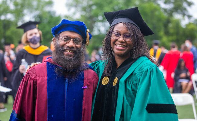 Clark graduate staff in robes