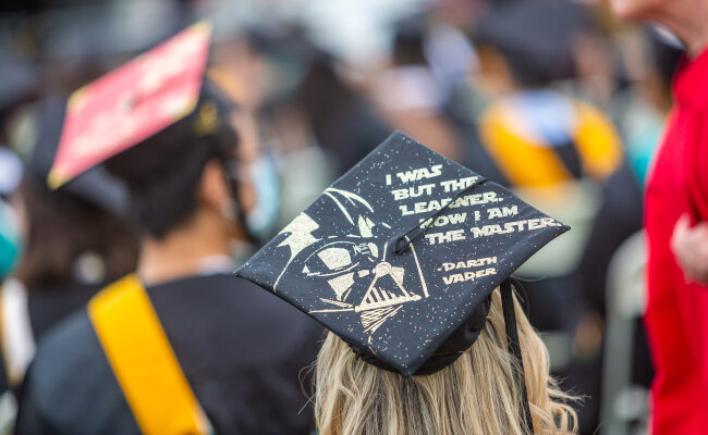 Graduation cap with Darth Vader
