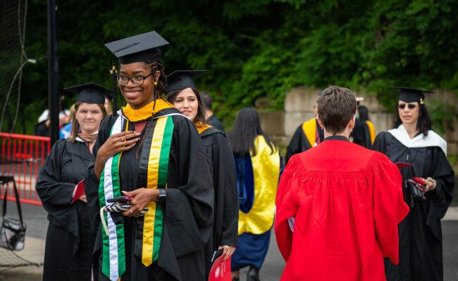 Graduate student smiling