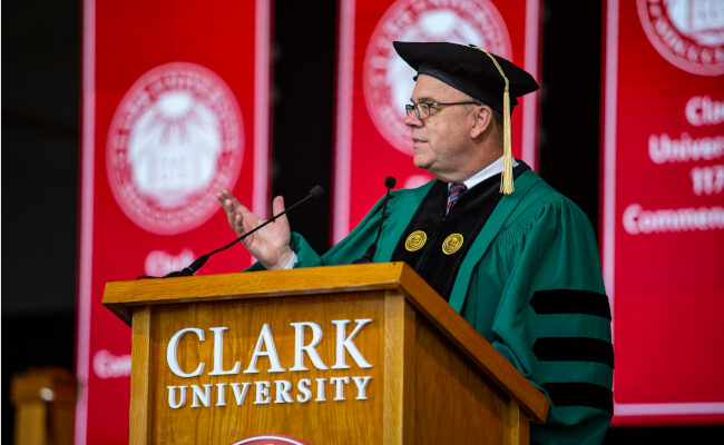 Opening statement at Clark commencement