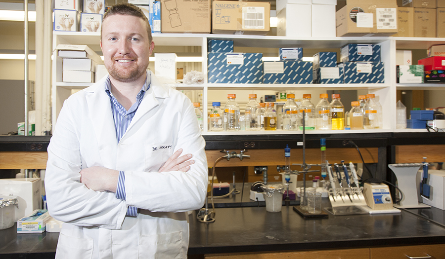 Don Spratt in lab setting