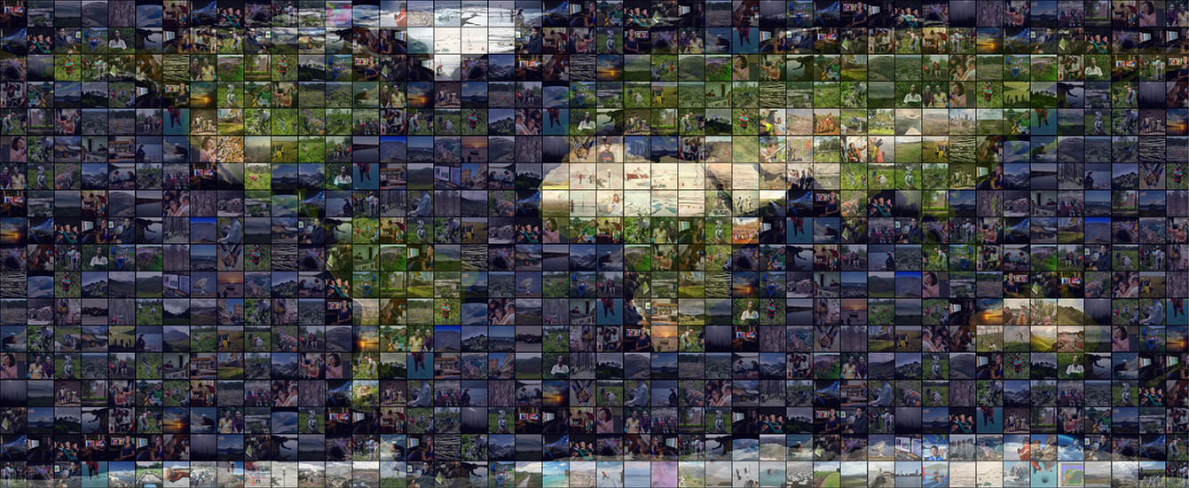 mosaic image of map with little images