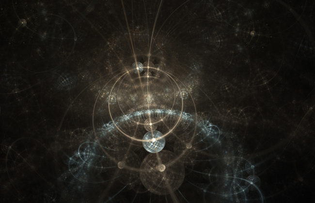 Abstract composite including fractal