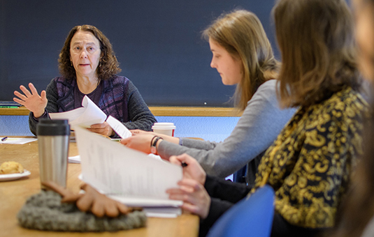 Students in class with professor