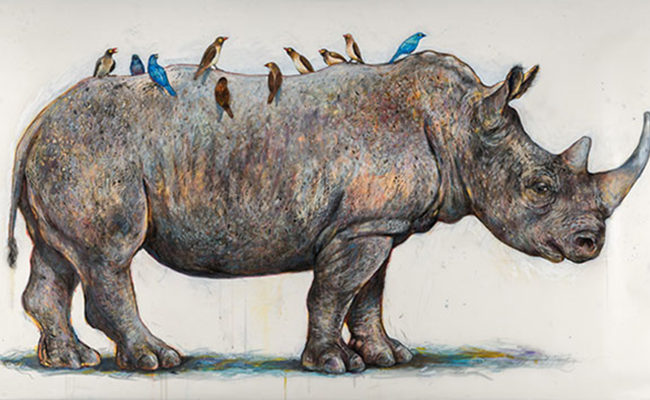 Artwork of rhinoceros