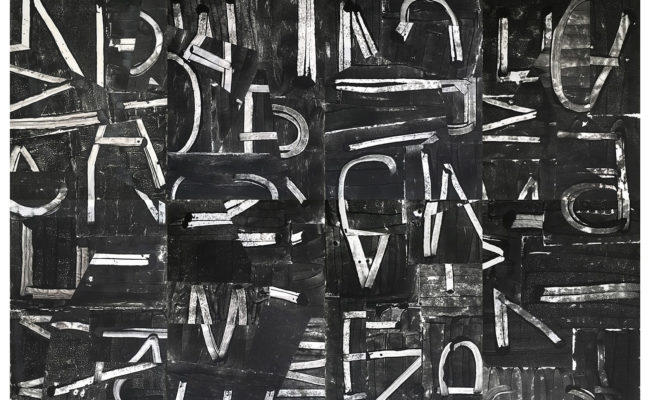 Abstract artwork of letters