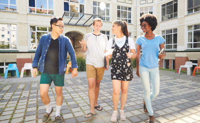 Group of students abroad