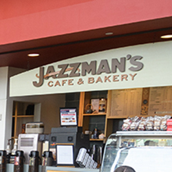 Jazzman's cafe and bakery sign