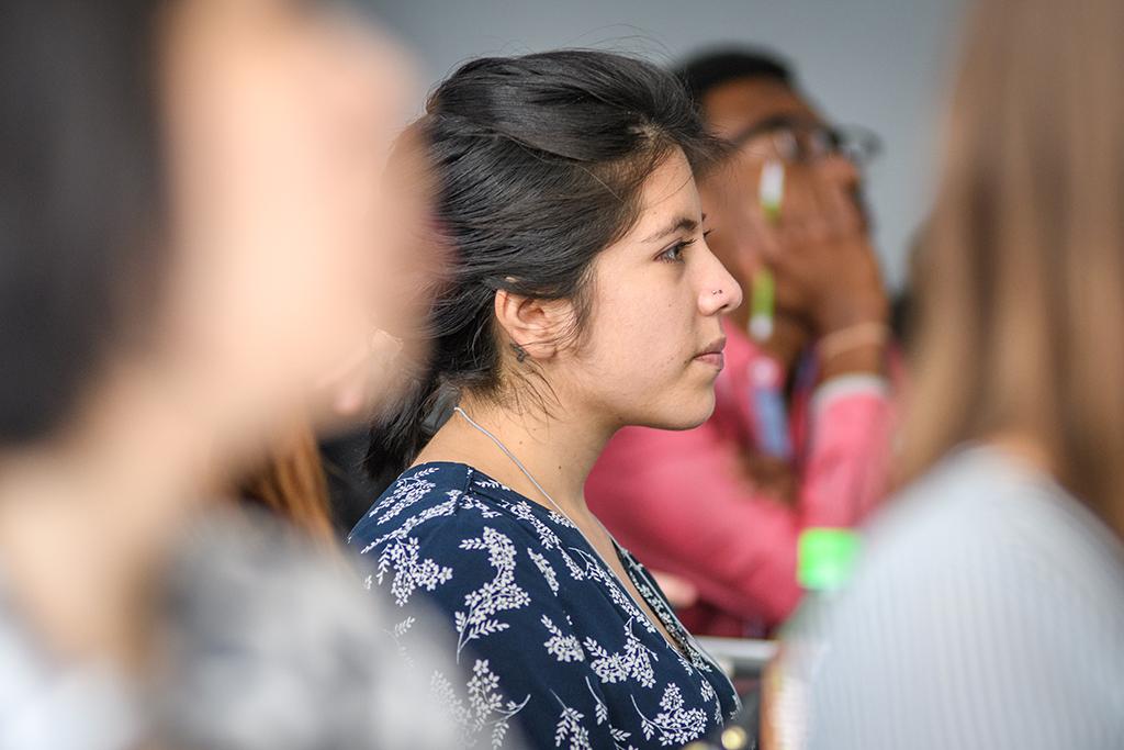 Students watching presenter