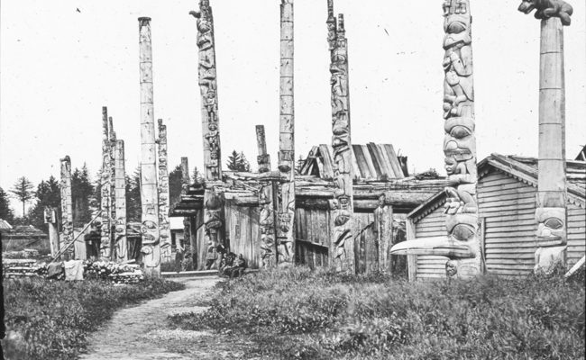 Totem Posts. Ft. Wrangell. Alaska.