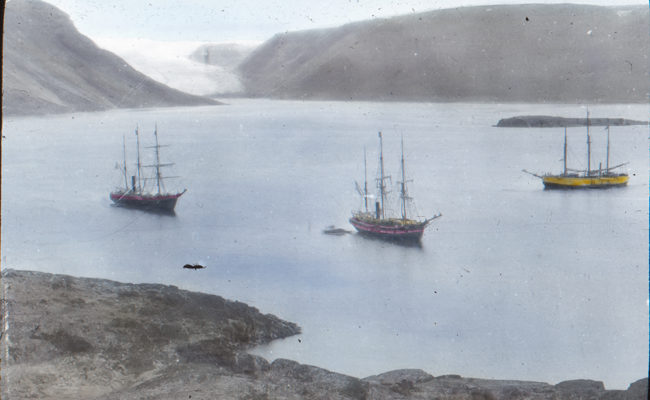 Arctic Naval Review - Foulke Fjord, Fran, Diana Windward.