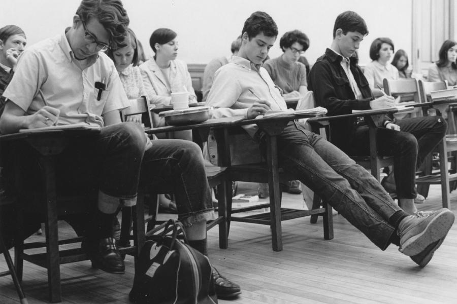 Clark classroom in thte 50s - 60s