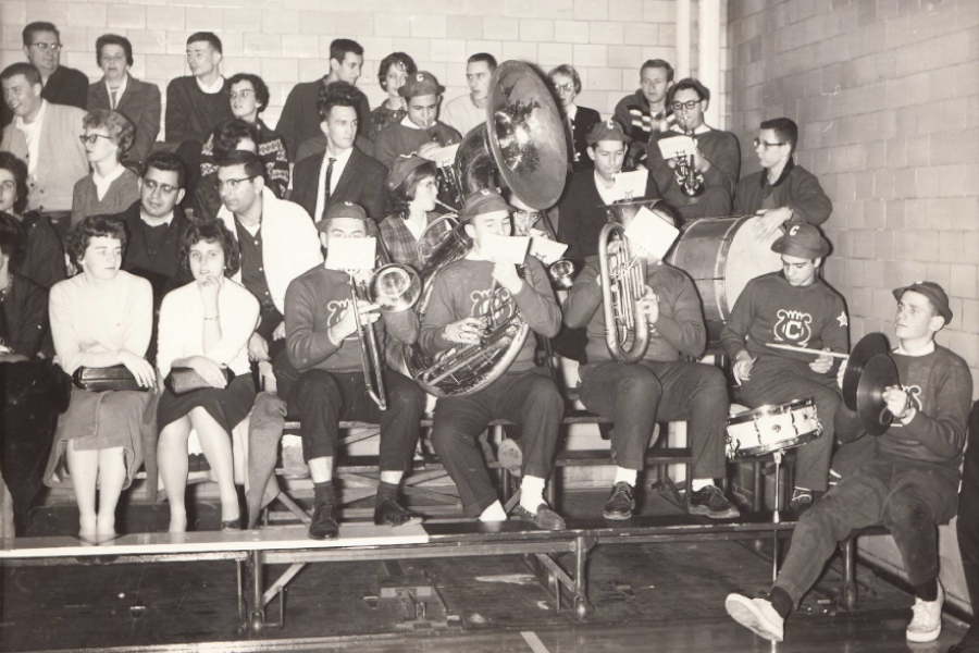 The Clark pep band