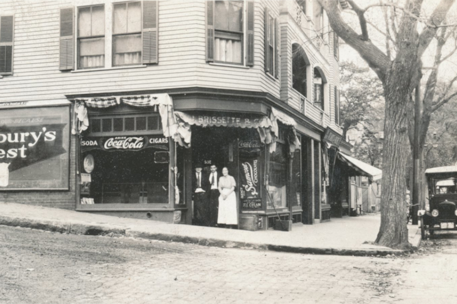 old corner store, now the site of Annie's Clark brunch