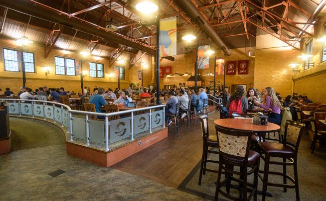Higgins Café, the main dining hall, in Higgins University Center