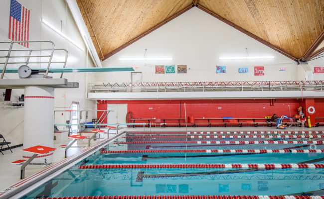 Our 25-yard swimming pool is located in the Kneller Center, our hub for athletics and recreation.