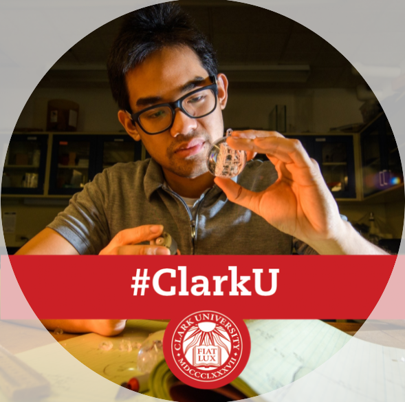 #ClarkU Facebook frame