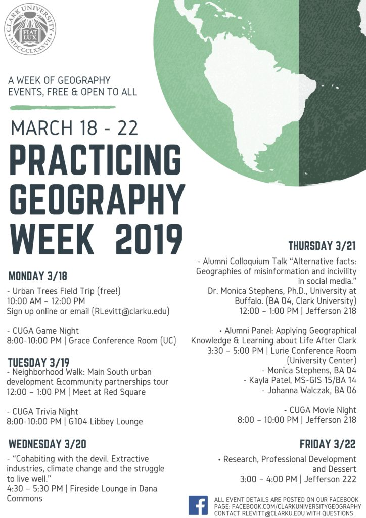 Practicing Geography Week 2019: Research, Professional Development