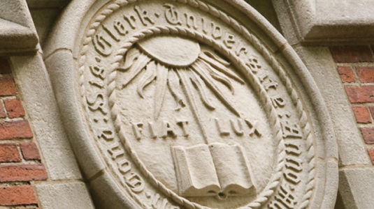 Carved Seal of Clark University