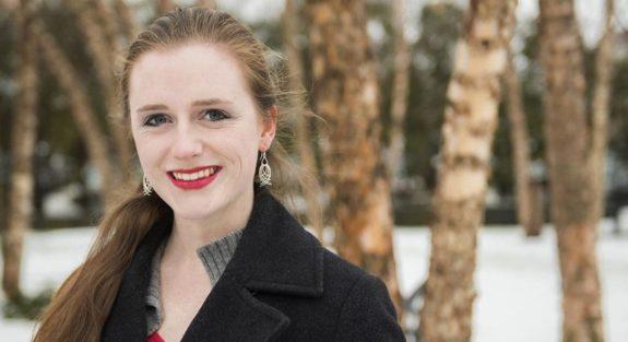 Krissy Truesdale standing in snow