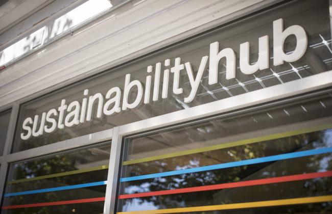 sustainability hub sign