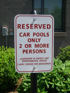reserved sign carpool