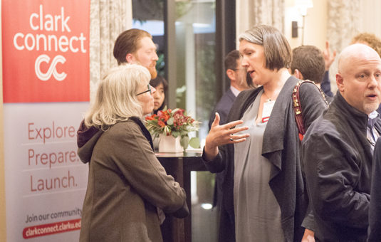 ClarkCONNECT alumni at an event