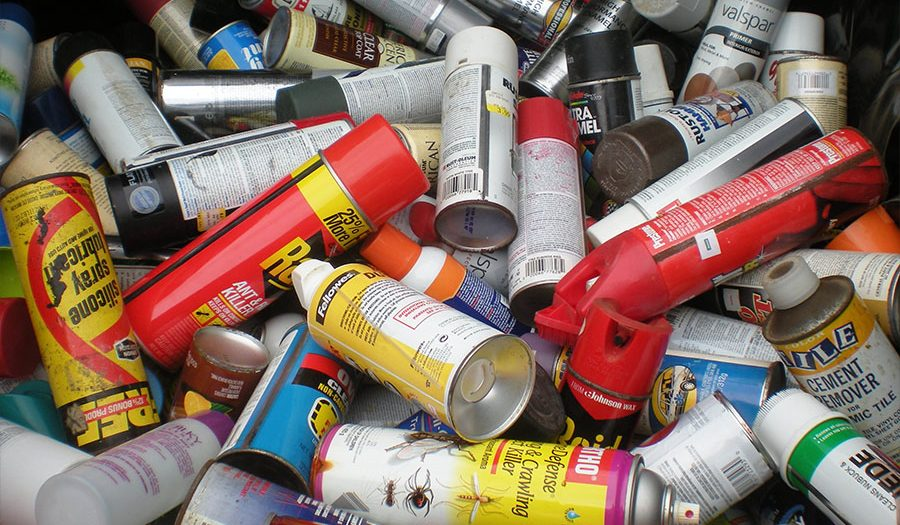 Chemical waste - spray can