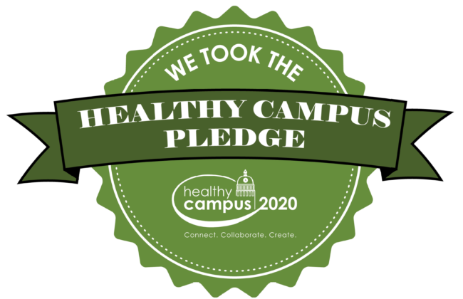 healthycampus pledge logo