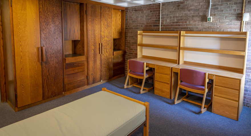 Johnson-Sanford hall dorm room with double beds