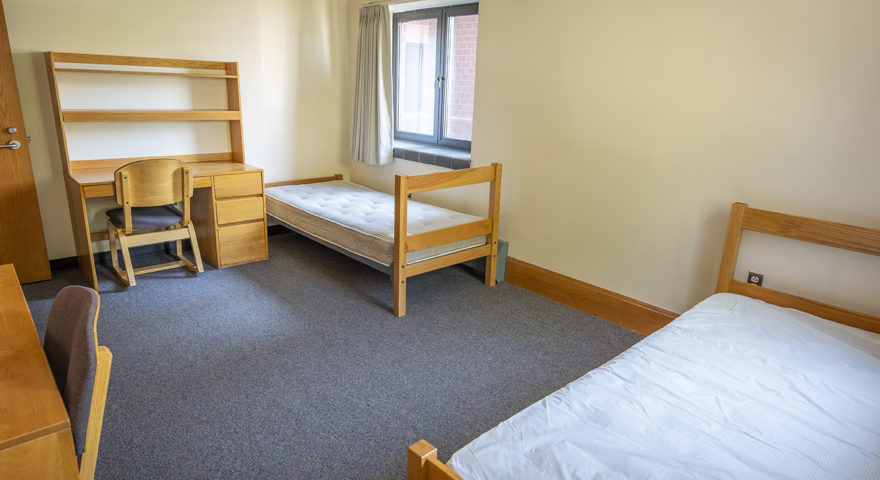Maywood Hall dorm room with double beds
