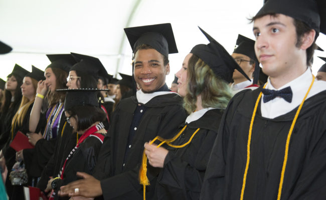 Clark University students at Commencement
