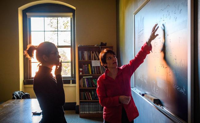 Professor Barbara Capogrosso Sansone and Liana Shpani '21