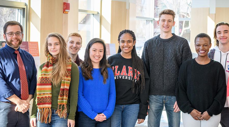 students looking at camera