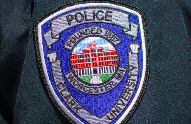 police badge on police uniform