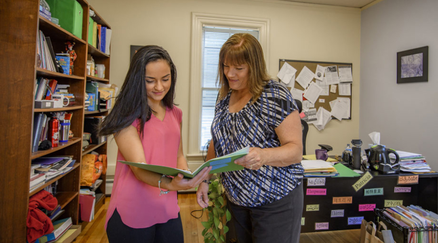 Student meeting with school counselor