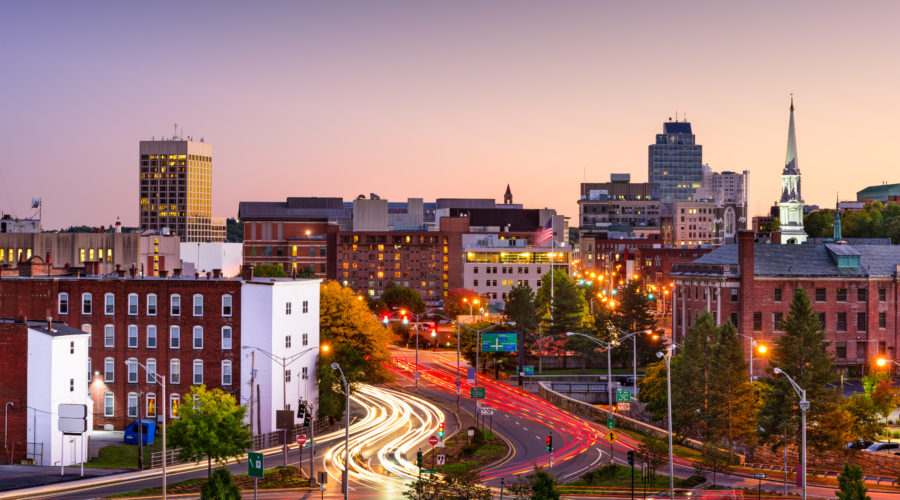 Worcester, Massachusetts Skyline