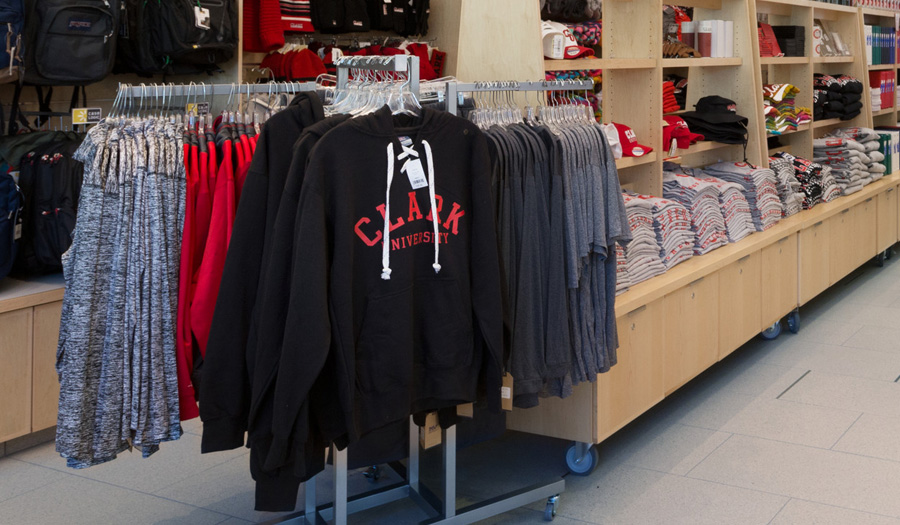 bookstore with clothing apparel