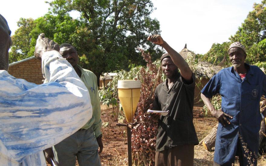 men working in the field