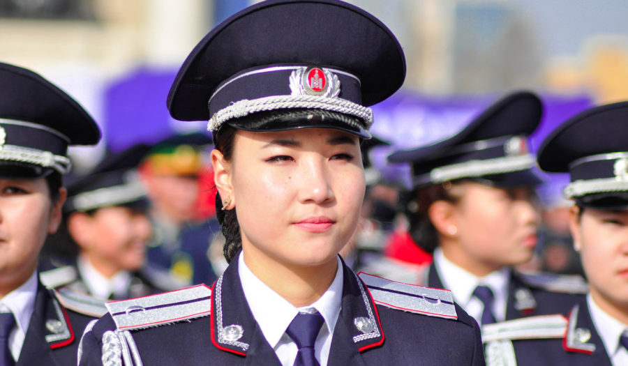 north korean female soldier