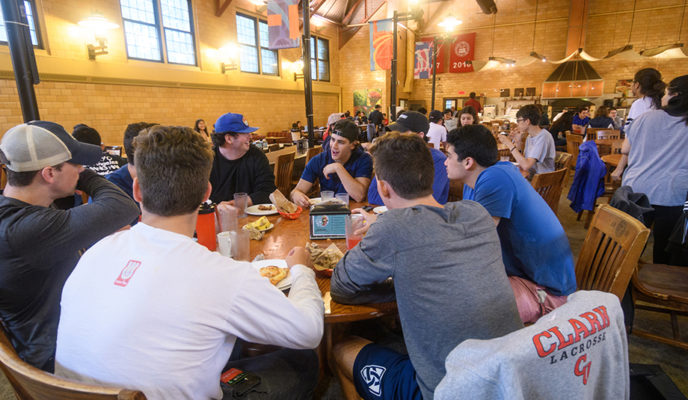 students dining