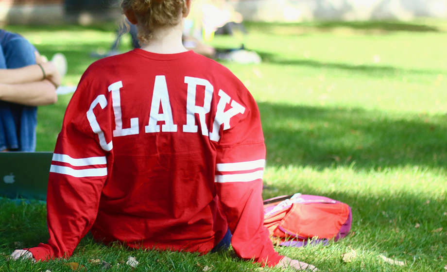 back of a shirt with Clark on it