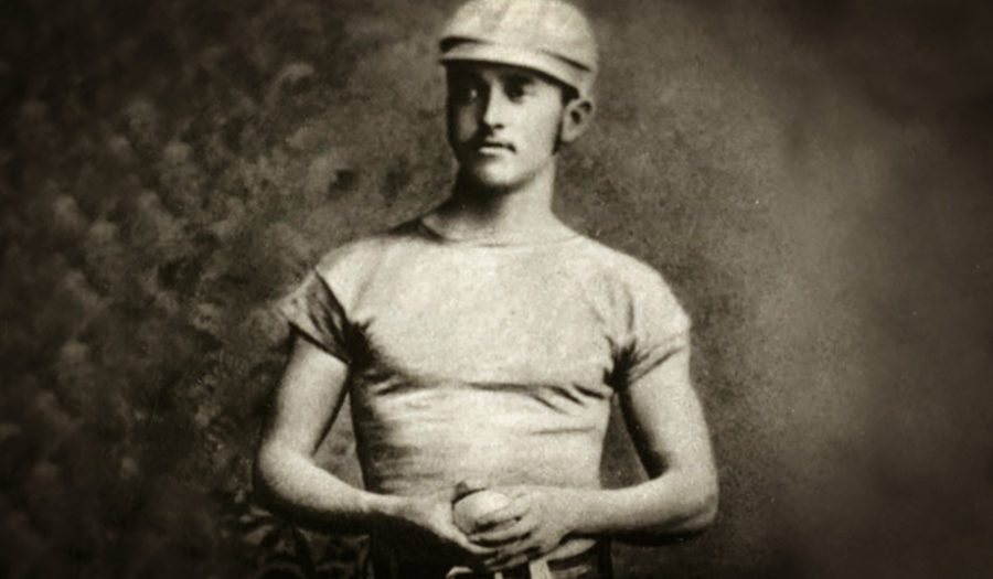 old photo of baseball picther