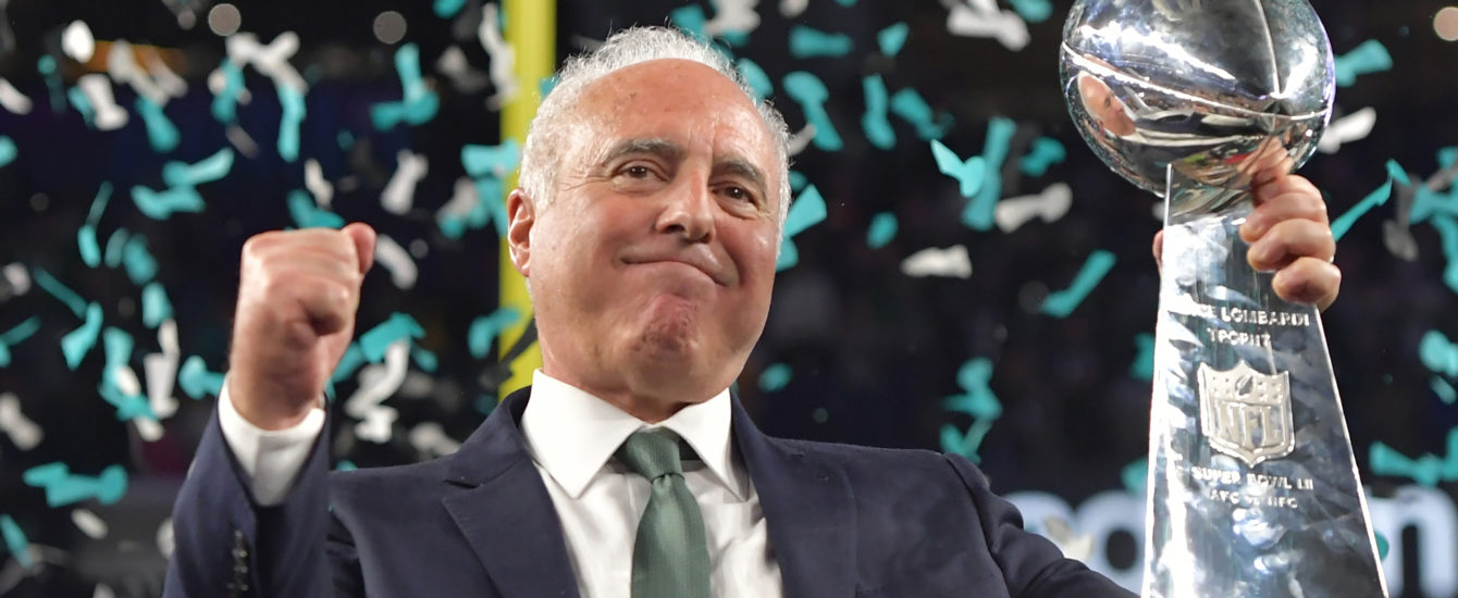 Jeff Lurie at the Super Bowl LII Philadelphia Eagles v New England Patriots