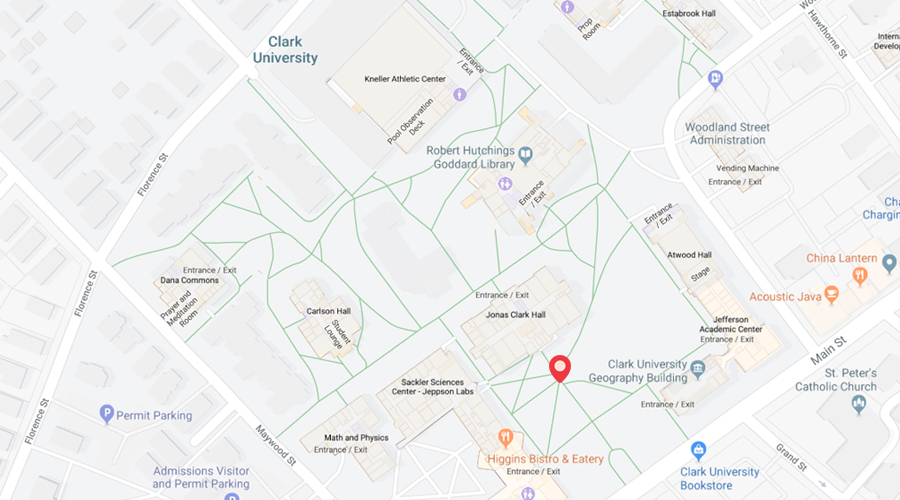Salem College Campus Map.Campus Map Directions Clark University
