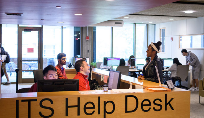 Help Desk scene