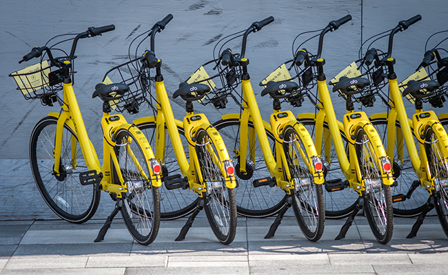 bikes in a row