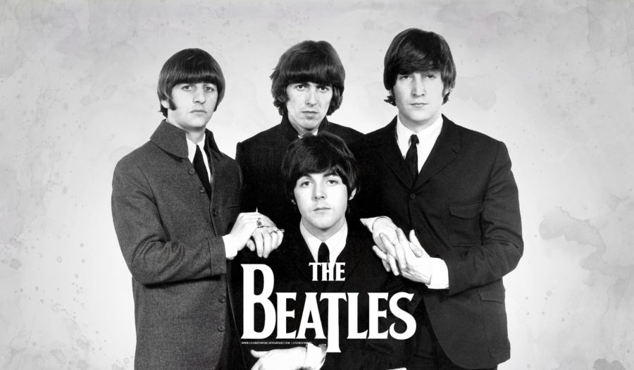 beatles musical group alumn cover with the 4
