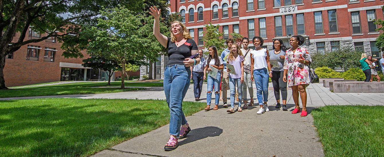 Students on a campus visit